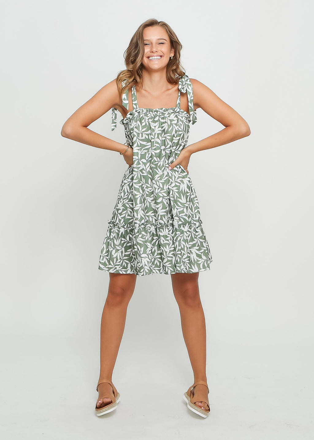 SOFIA DRESS - GREEN LEAF