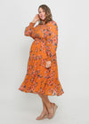 ZAREL DRESS - MUSTARD FLORAL - LAST STOCK