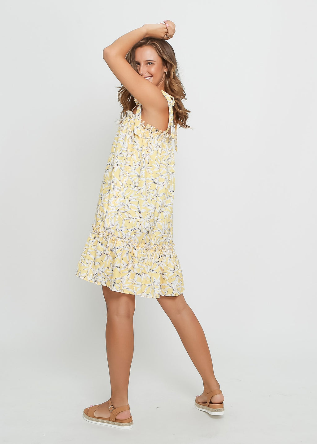 SOFIA DRESS - YELLOW LEAF