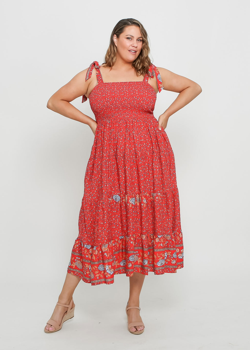 JESSY DRESS - RED PRINT