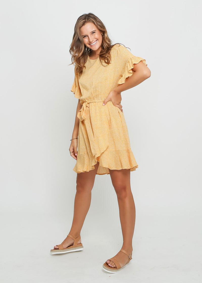 CLAIRE DRESS - YELLOW FLORAL