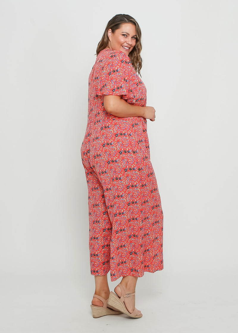 MILA JUMPSUIT - RED PRINT