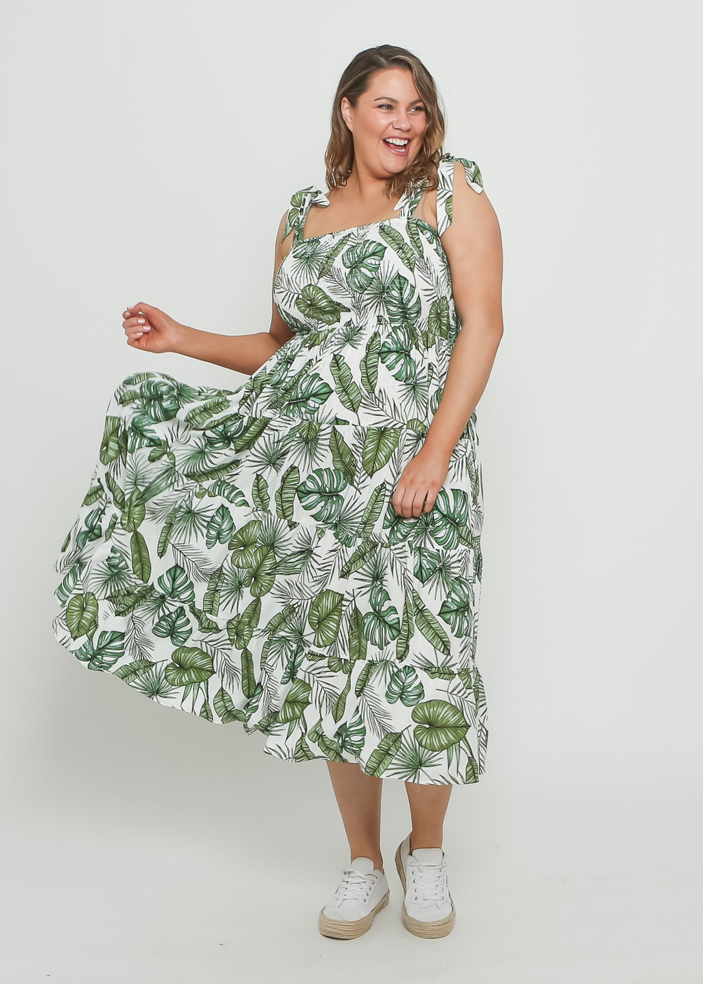 JAY DRESS - GREEN TROPICAL