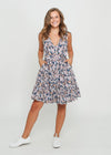 MEI DRESS - NAVY FLORAL - LAST STOCK