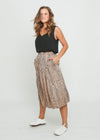 MILLY SKIRT - BEIGE LEOPARD