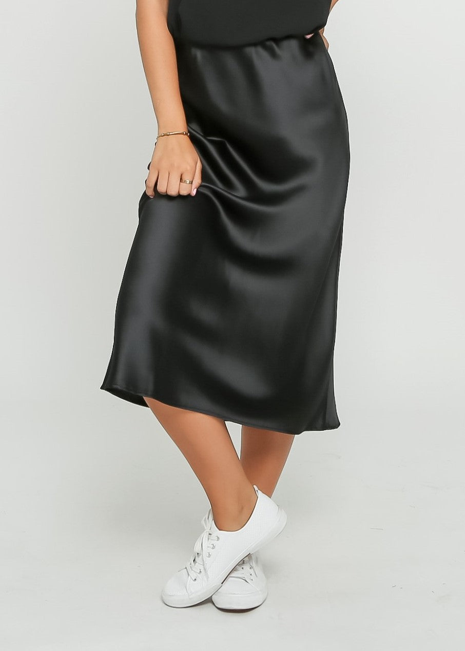 ALLA SKIRT - BLACK - MARK DOWN MADNESS