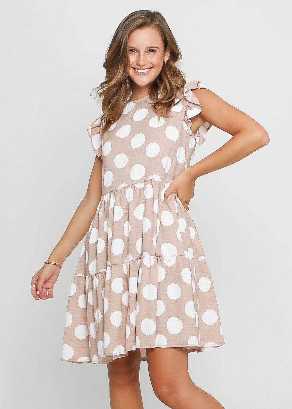 SHANLY DRESS - ROSE DOT - MARK DOWN MADNESS