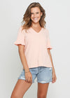 ELIANA TASSEL TOP - BRICK