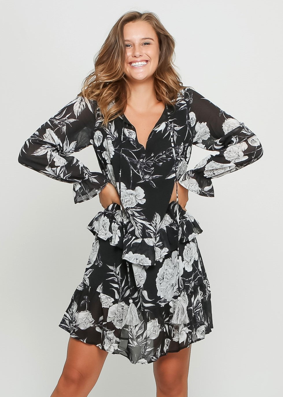 GRACIE DRESS - BLACK FLORAL