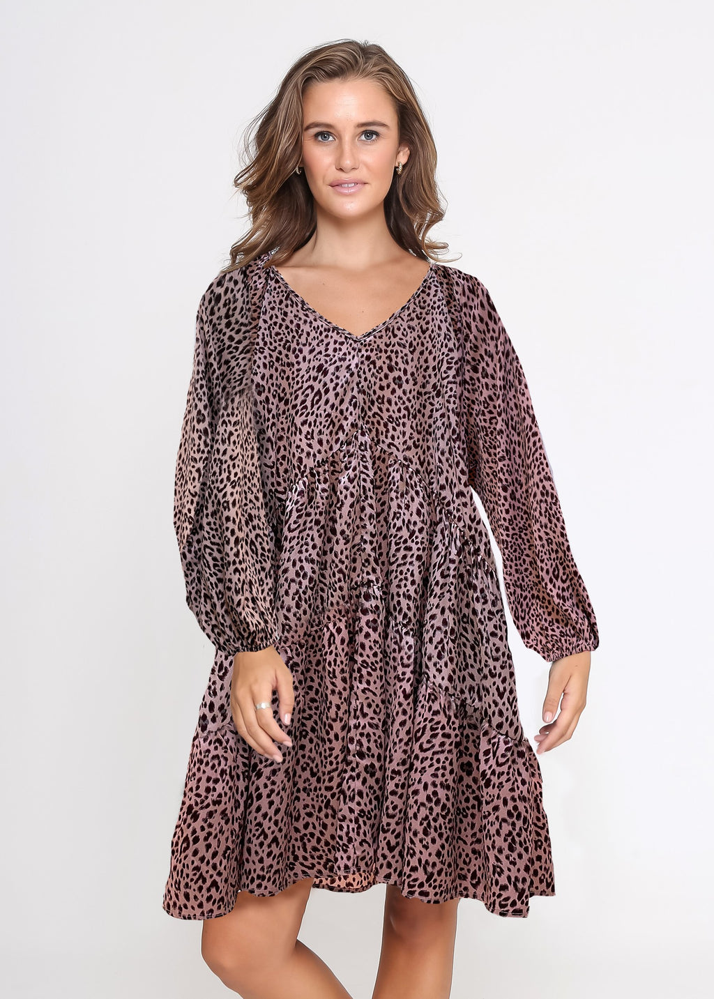 PRE-ORDER - LYNCH DRESS - PINK LEOPARD