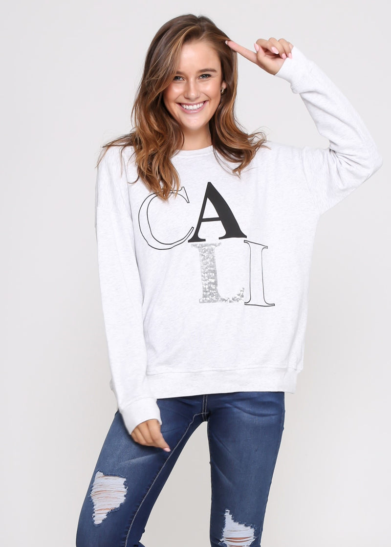 CALI SWEATER- GREY