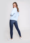MONACO EMBOSSED SWEATER - BLUE