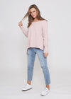 JESS LONG SLEEVE TOP - BLUSH