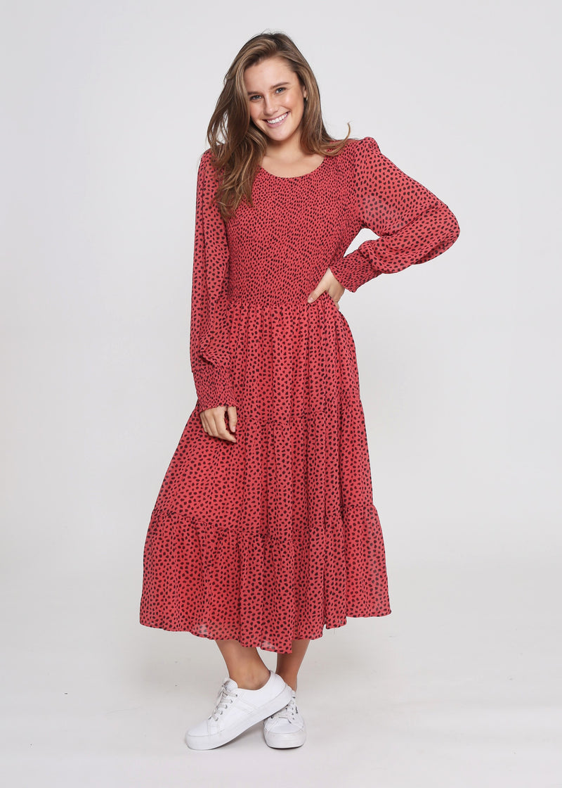 NEW - PHOENIX DRESS - RED DOT