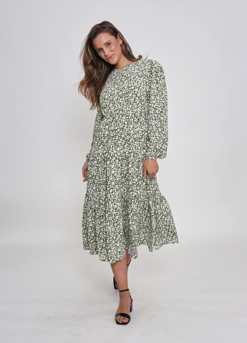 JAY DRESS - GREEN FLORAL