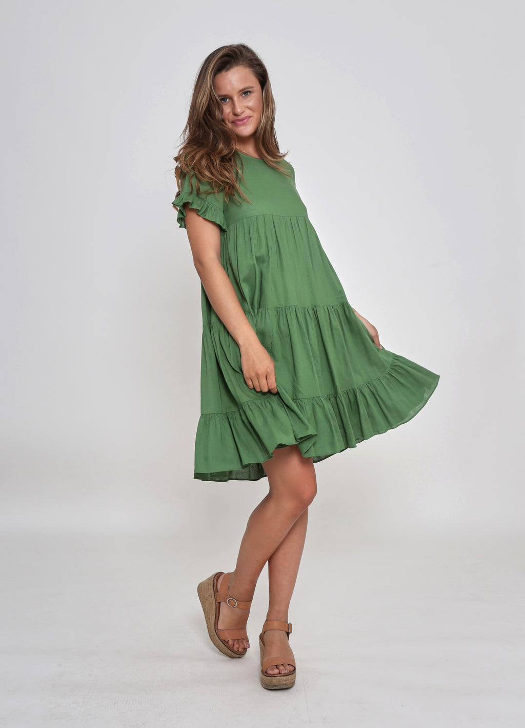NEW - FINLEY DRESS - GREEN FOREST