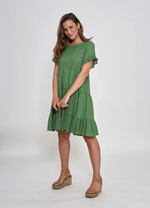 FINLEY DRESS - GREEN FOREST