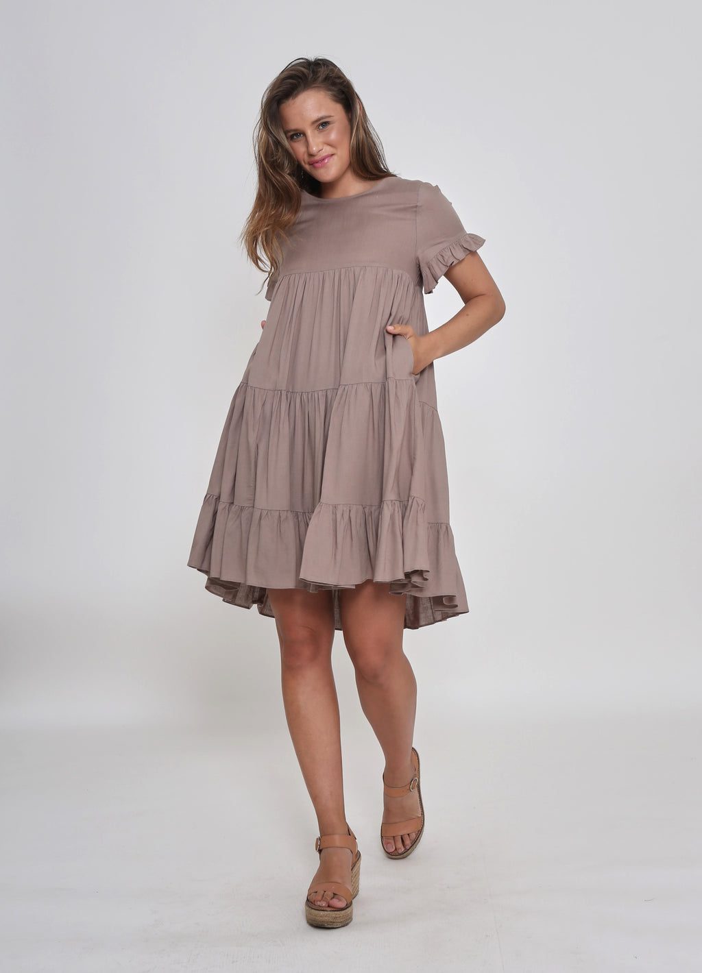 NEW - FINLEY DRESS - MOCHA MELODY