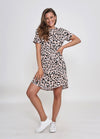 REMI DRESS - BLUSH LEOPARD