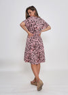 PRE-ORDER - MICAH DRESS - BLUSH LEOPARD