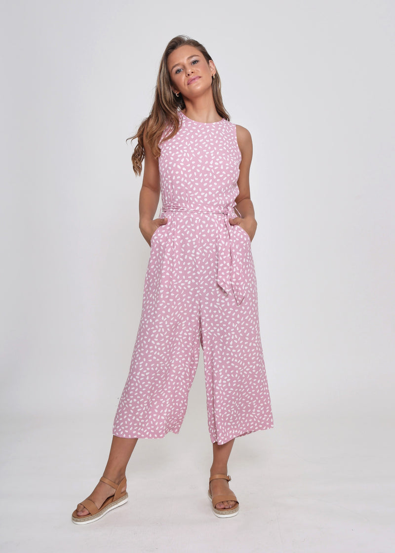 NEW - NORA JUMPSUIT - PINK DOT