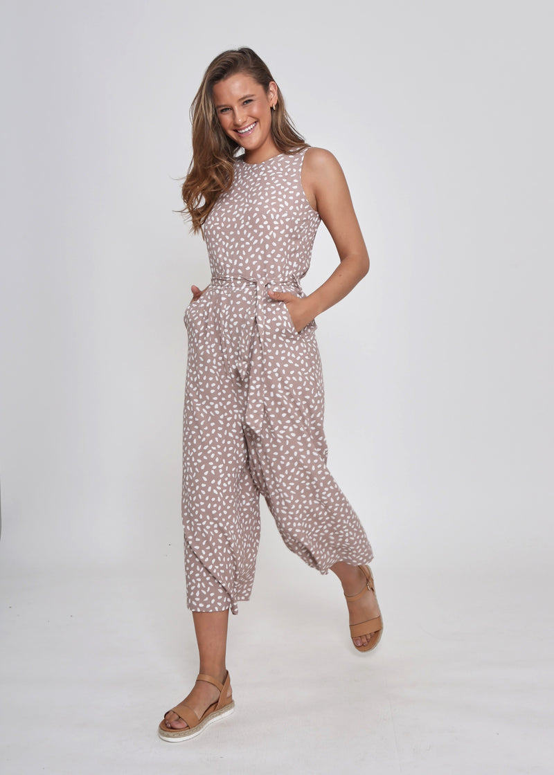 NORA JUMPSUIT - LATTE DOT