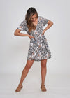 NEW - KELLY DRESS - FLORAL LEOPARD PRINT
