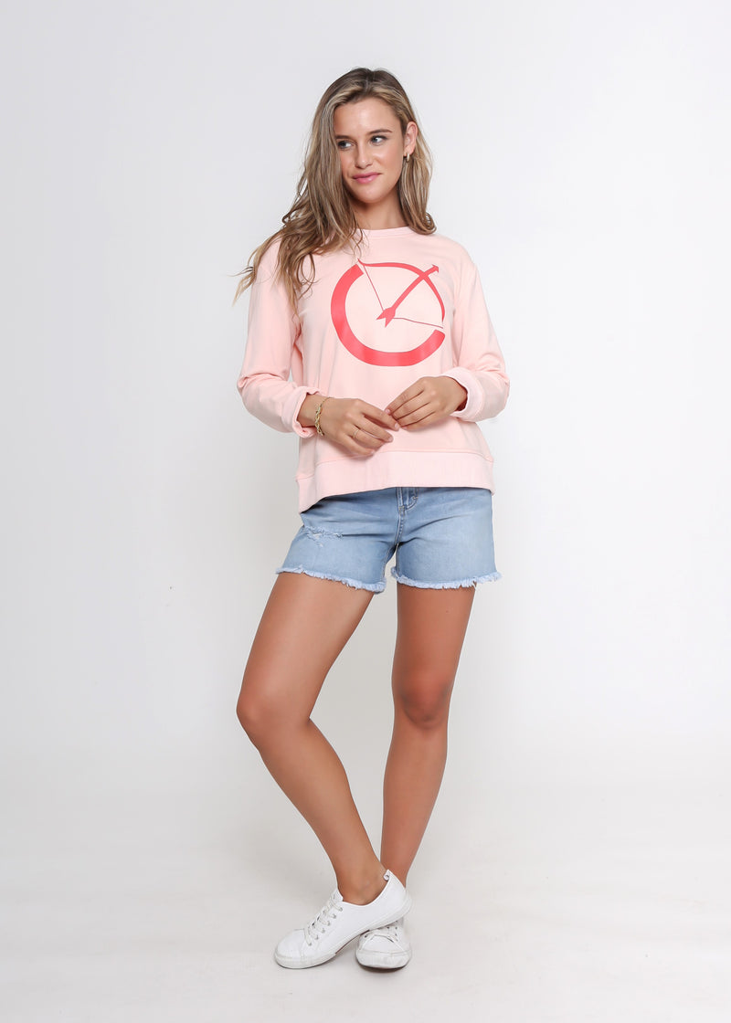 BOW SWEATER - PEACH
