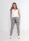 BILLIE JOGGER - GREY & BLACK LEOPARD