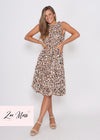 JUST IN - BRONDA DRESS - GREEN LEOPARD