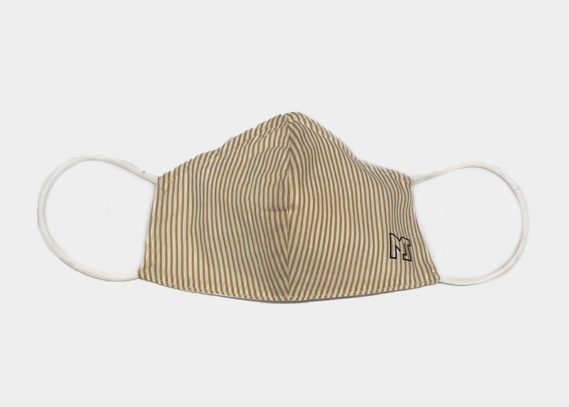FREEDOM FACE COVERING - BEIGE STRIPE MJ
