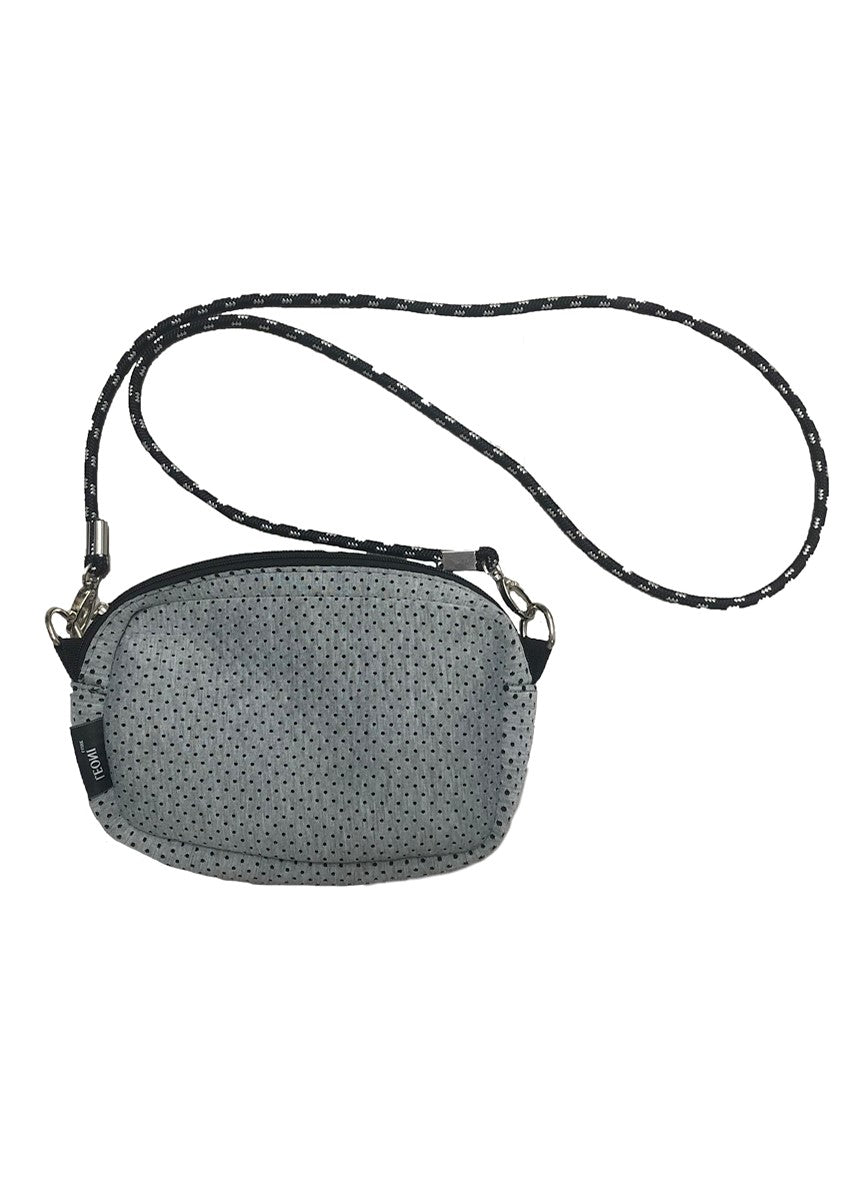 DEB NEOPRENE CROSSBODY BAG - GREY
