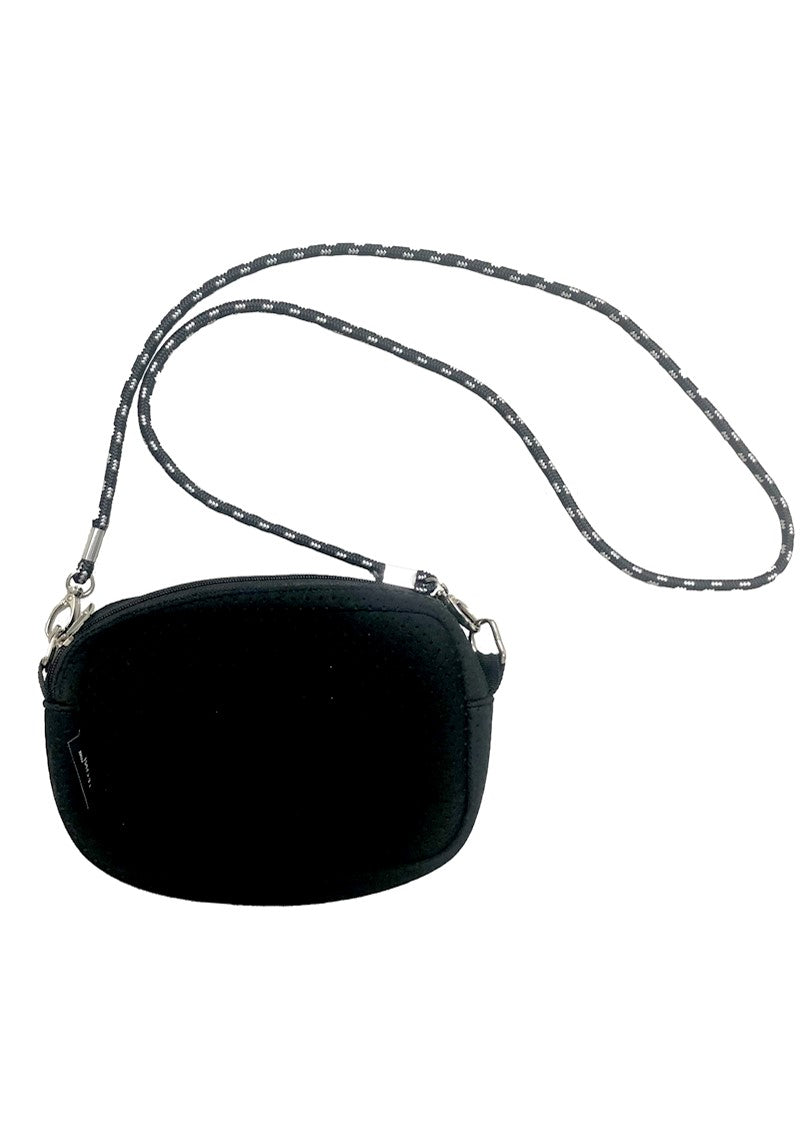 DEB NEOPRENE CROSSBODY BAG - BLACK