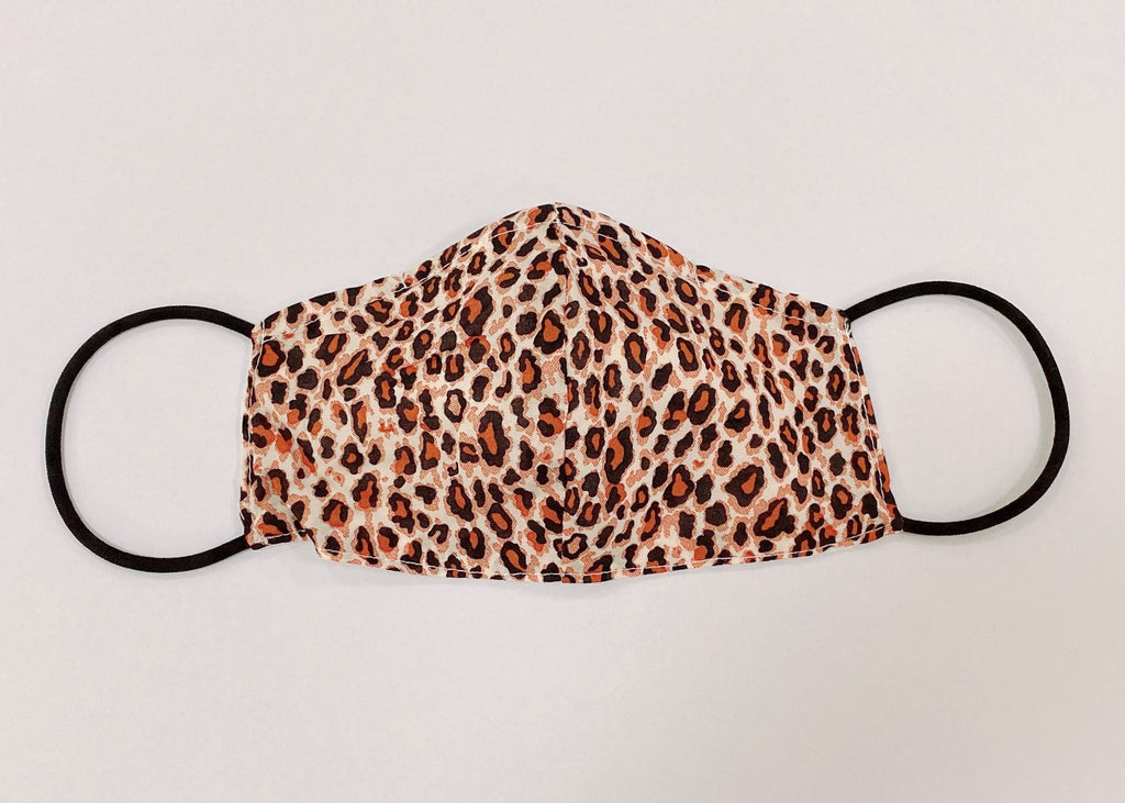 JUST IN - FREEDOM FACE COVERING - ORANGE LEOPARD