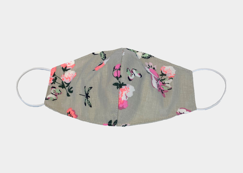 FREEDOM FACE COVERING - GREY FLORAL