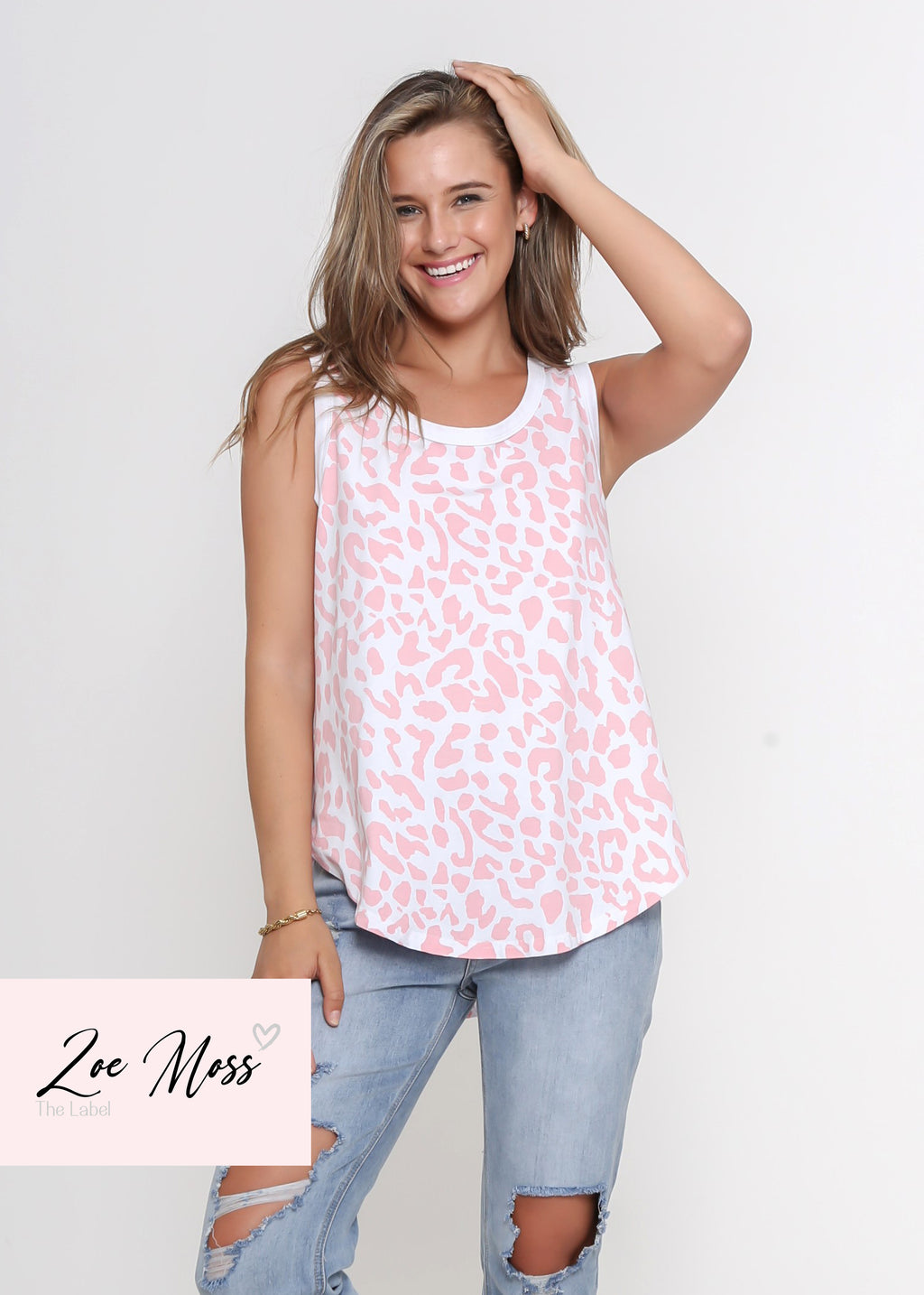 NEW - JAX TANK - DARK ROSE LEOPARD
