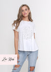 NEW - KARTER TEE - GREY O LEOPARD