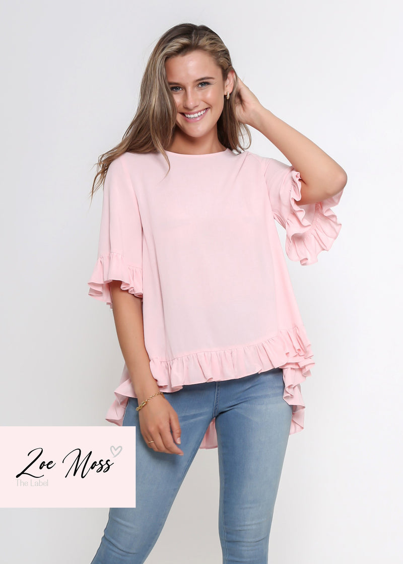 LORA FRILL TOP - FAIRY