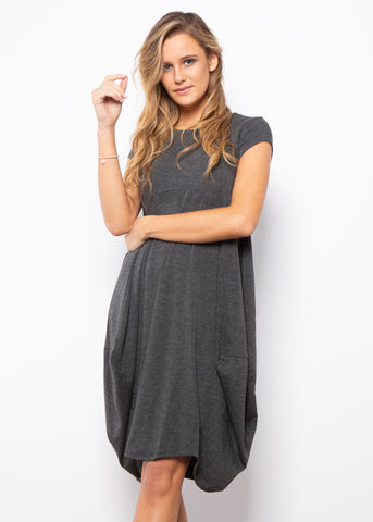 ELISE DRESS - SLEEVE-LESS NAVY STRIPE