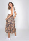 LIZ SKIRT - CAMEL CHEETAH