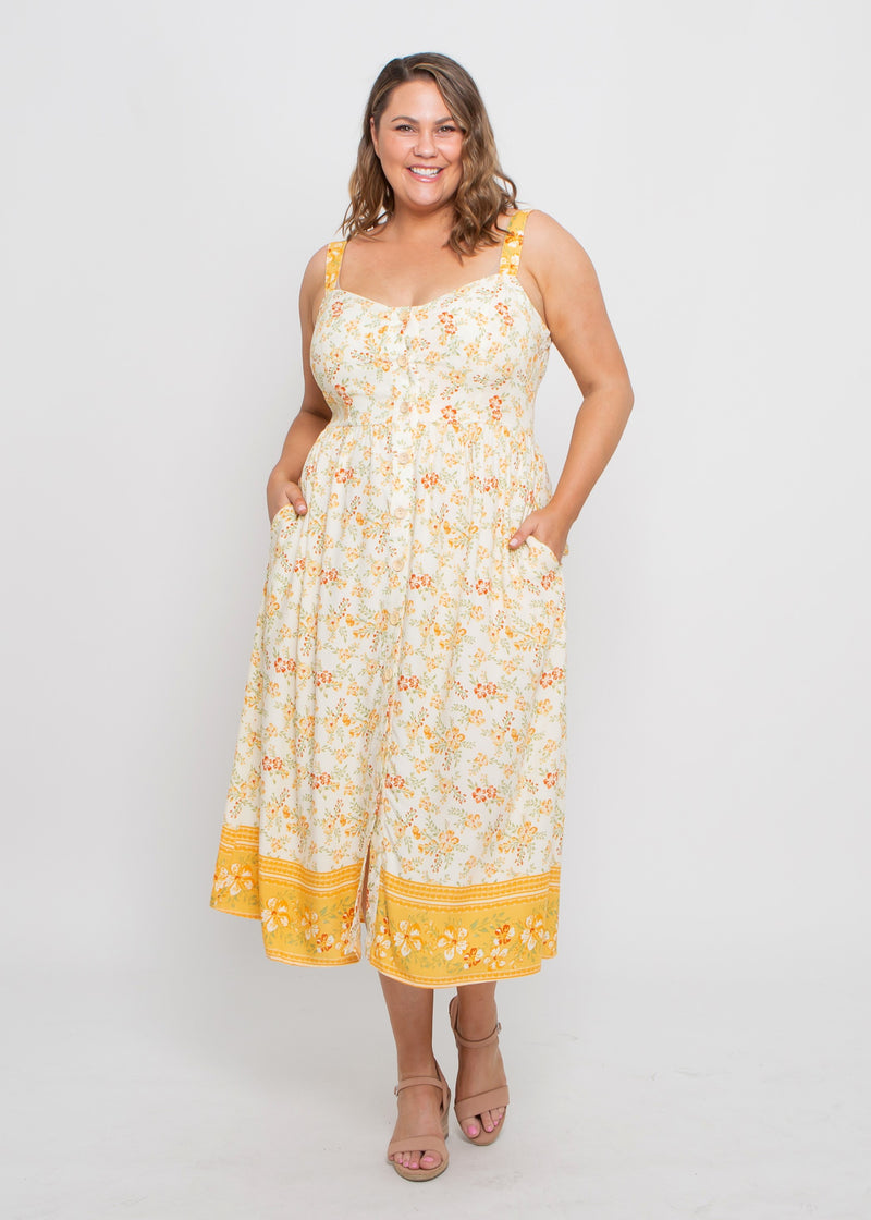 LILY DRESS - YELLOW FLORAL