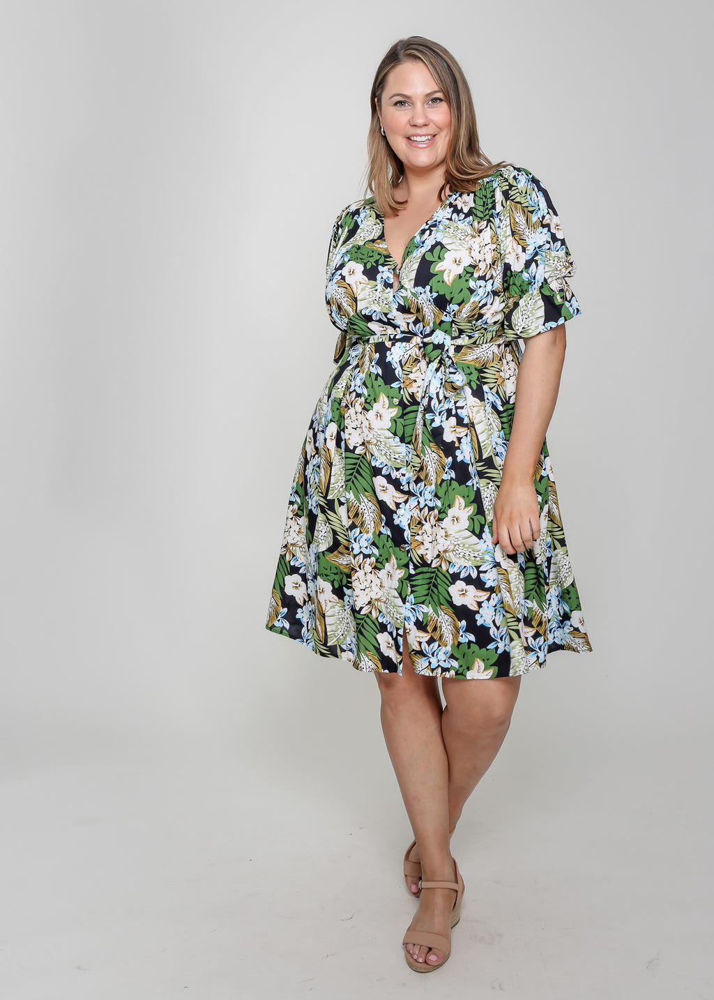 PREA DRESS - GREEN PRINT