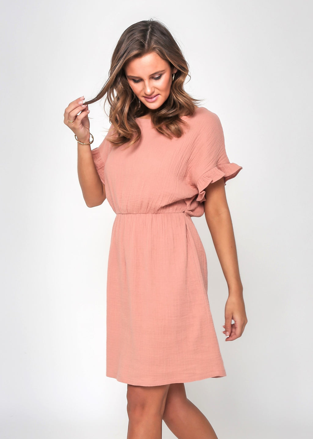 LIZZIE DRESS - BRICK - LAST STOCK