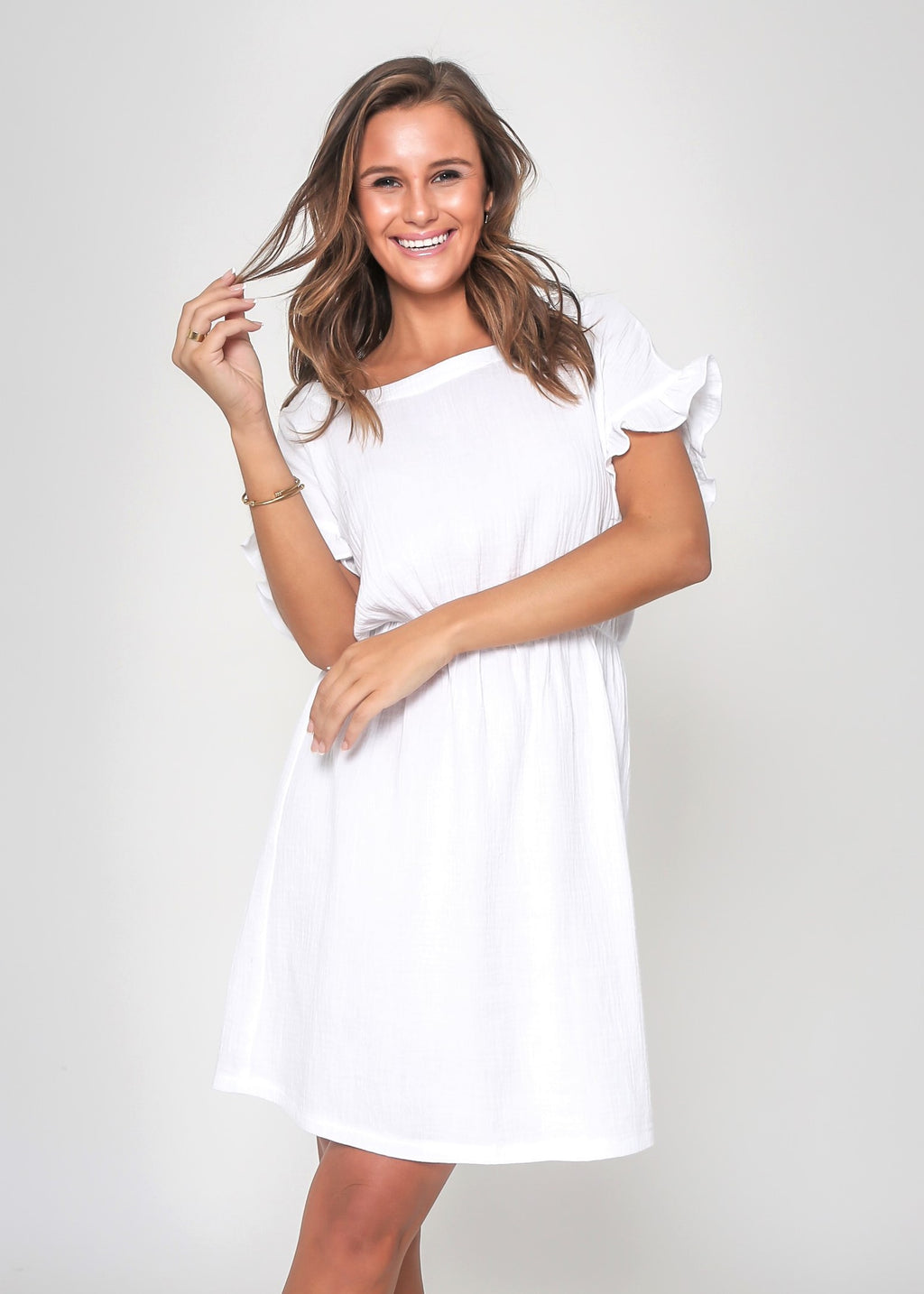 LIZZIE DRESS - WHITE - LAST STOCK
