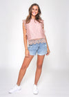 MIRANDA LACE TOP - BLUSH