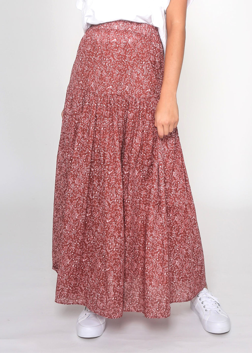 JUNE SKIRT - RUST FLORAL