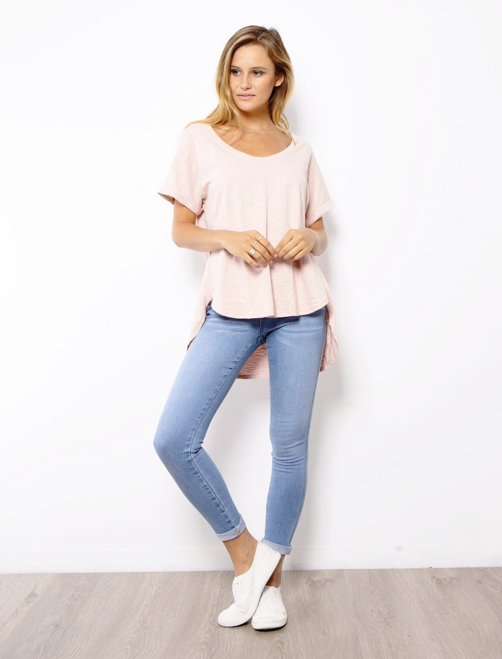 LUBI COTTON TEE - BLUSH - MARK DOWN MADNESS