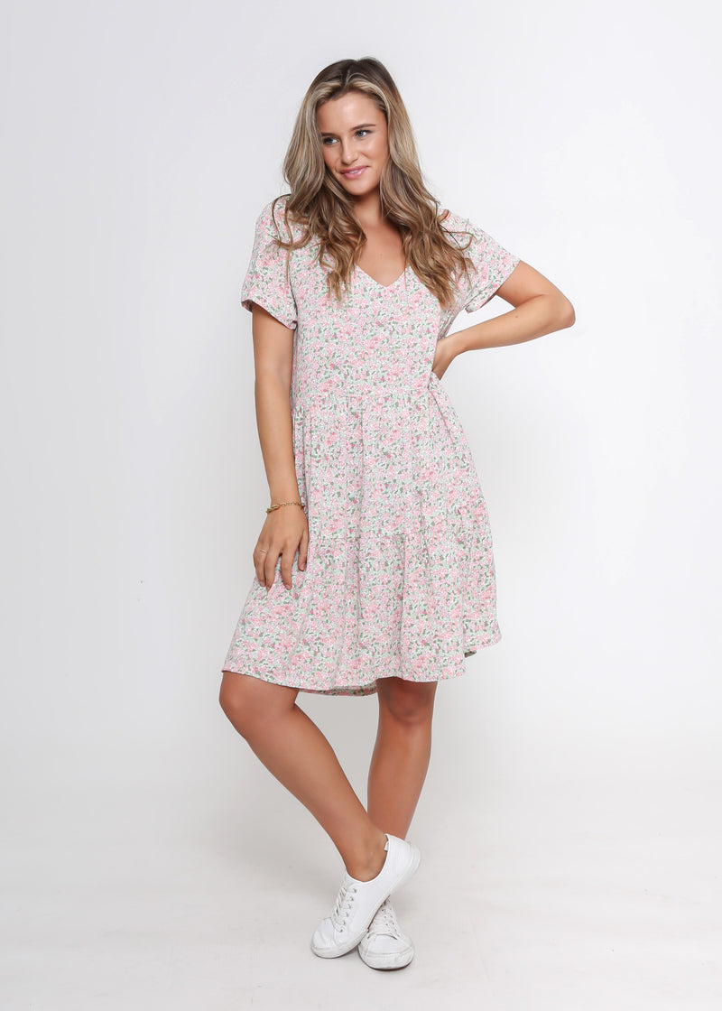 NEW - KELLY DRESS - PINK FLORAL