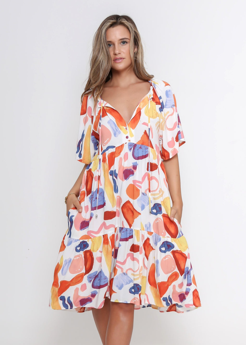 SKYLA DRESS - MULTI COLOUR PRINT