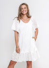 NEW - JADOR DRESS - WHITE